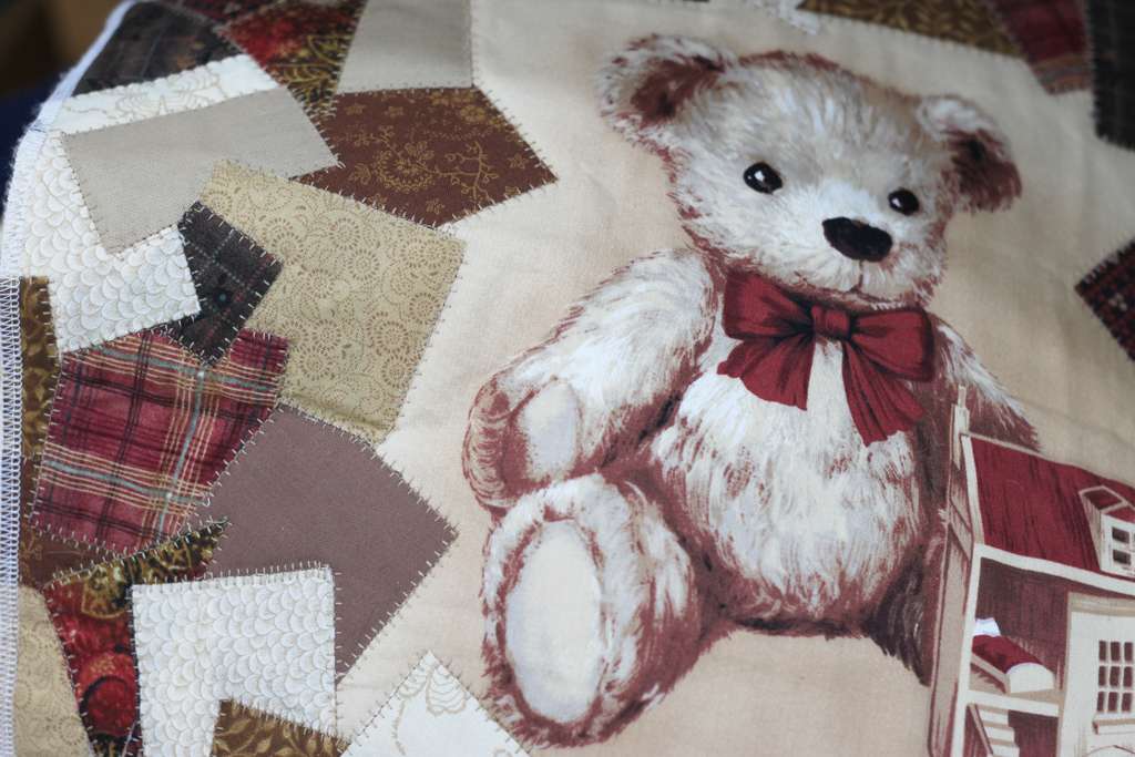 Look Down teddy quilt